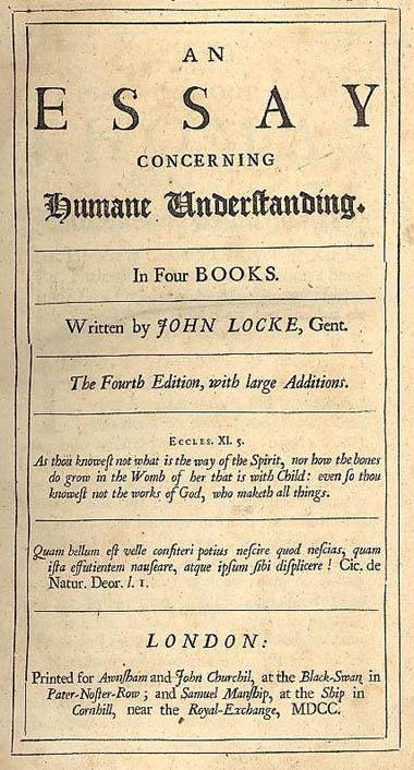 summary of locke an essay concerning human understanding